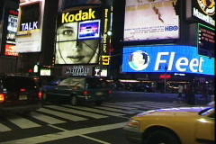 Broadway Taxis & Signs-N - stock footage