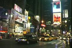 Broadway-Night - stock footage