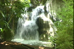 Busch Gardens Waterfall-cu Stock Footage