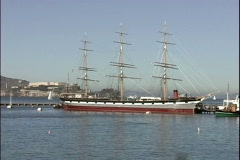CA Thayer Tall Ship Stock Footage