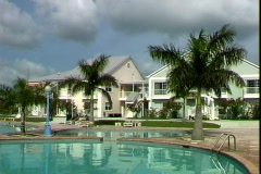Cable Beach Villas Pool Stock Footage