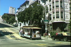 Cable Car-pan Stock Footage