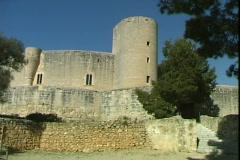 Castillo de Bellver Stock Footage
