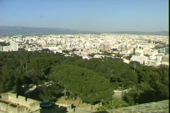 Castillo View-pan - stock footage