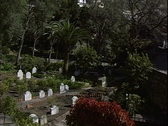 Stock Video Footage of Cemetery-ws-pan