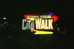 CityWalk Sign-zoom - stock footage