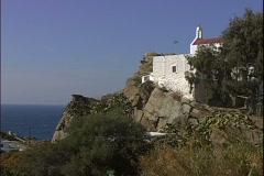 Cliffside Church Stock Footage