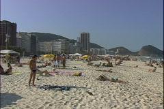 Copa Beach Guy-ws-pan Stock Footage