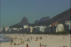 Copa Beach People-ws-zoom Stock Footage