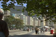 Copa Beach Sidewalk-zoom Stock Footage
