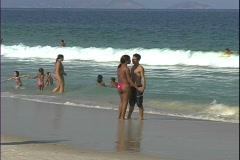 Copa Beach Young Couple-2 Stock Footage