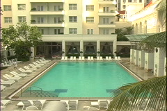 Copa Palace Pool Stock Footage