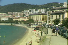 Corsica Beach Town Stock Footage
