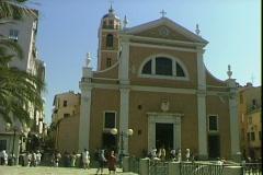 Corsica Church Stock Footage
