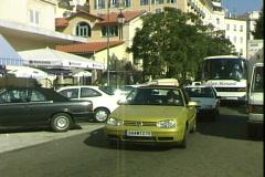 Corsica Tour Bus Stock Footage