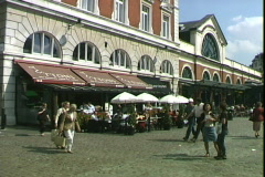 Covent Garden Cafe People Stock Footage