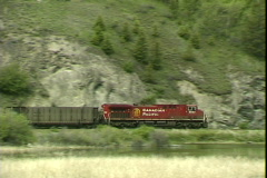 CP Train-ws-pan Stock Footage