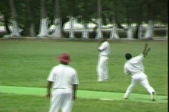 Cricket Bowler Stock Footage