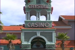 Crystal Casino-zoom - stock footage