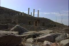 Delos House Ruin Stock Footage