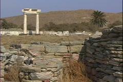 Delos Temple-zooms Stock Footage