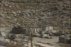 Delos Theater-zoom Stock Footage