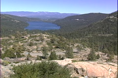 Donner Lake Road-ws Stock Footage