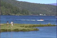 Donner Lake Waverunner-pan Stock Footage