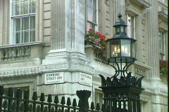 Downing Street Sign Stock Footage