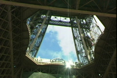 Eiffel Lift Stock Footage