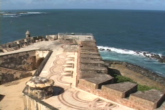 El Morro Bastion Stock Footage