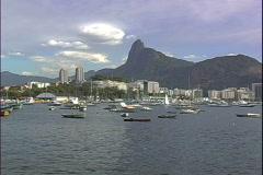 Enseada de Botafogo Boats Stock Footage