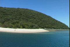 Family Islands Beach-pan - stock footage