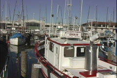 Fisherman's Wharf Boats-pan Stock Footage