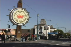 Fisherman's Wharf Traffic - stock footage