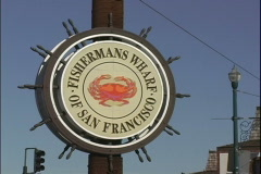 Fisherman's Wharf-zoom Stock Footage