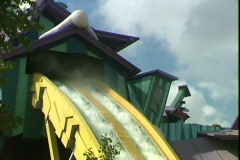 Flume Ride-tilt - stock footage