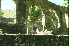 Fort Ruins-cu Stock Footage