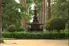 Garden Fountain-zoom Stock Footage