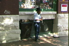 Gastown Musician Stock Footage