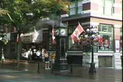 Gastown Steam Clock-zoom Stock Footage