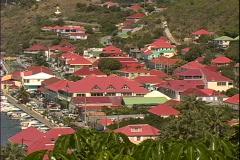 Gustavia-overhead Stock Footage