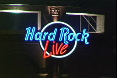 Hard Rock Sign Stock Footage