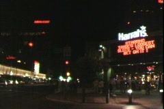 Harrah's Corner-Night Stock Footage