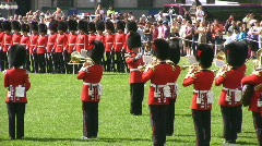 Govenors General Foot Guards  Military Band Playing At Parliament Ottawa Canada Stock Footage