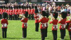 Govenors General Foot Guards  Military Band Playing At Parliament Ottawa Canada Stock Footage