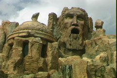 Islands of Adventure Carvings Stock Footage