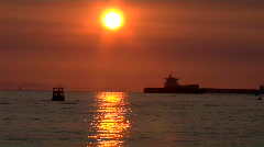 Summer Sunset Over English Bay Stock Footage