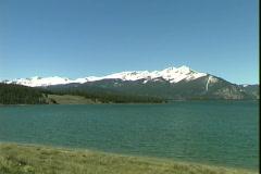 Lake Dillon-pan Stock Footage