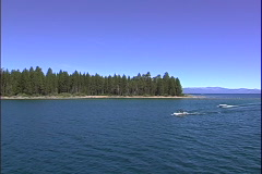 Lake Speedboats-pov Stock Footage